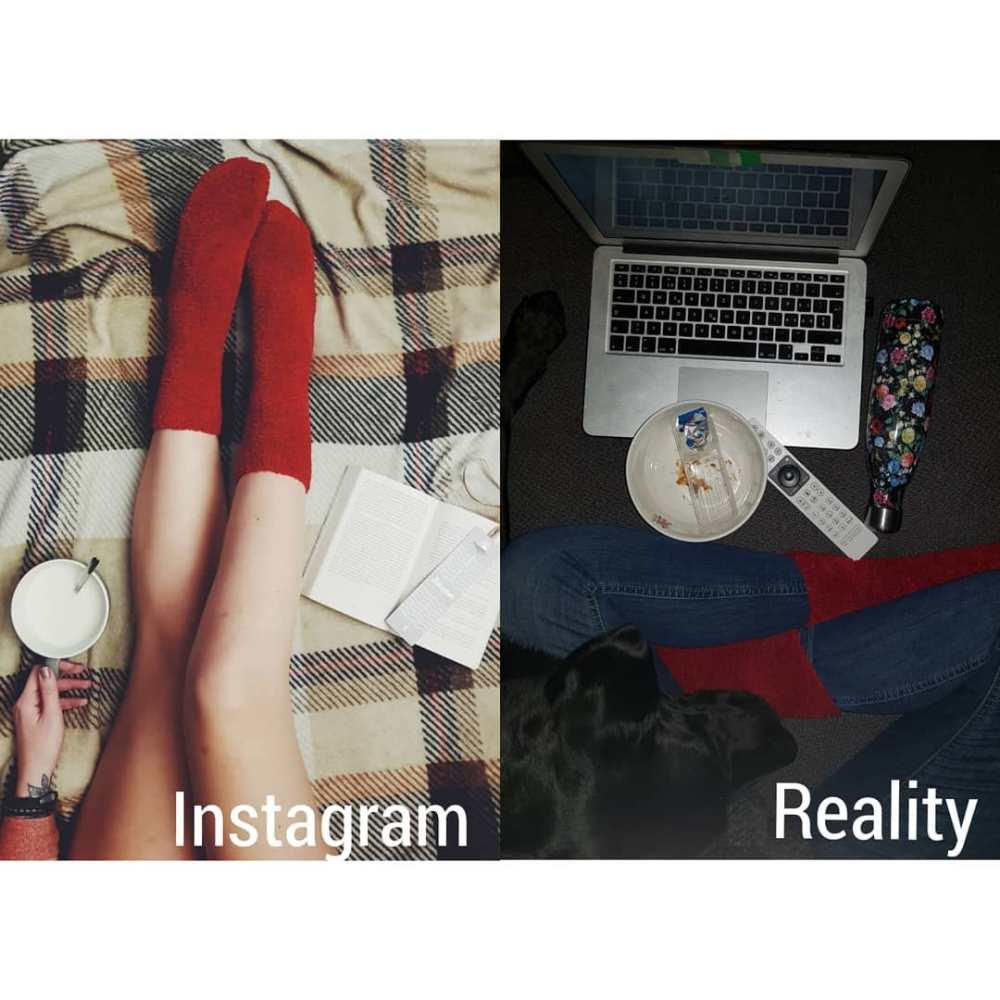 Инстаграм VS реальность: честные фото одной девушки
