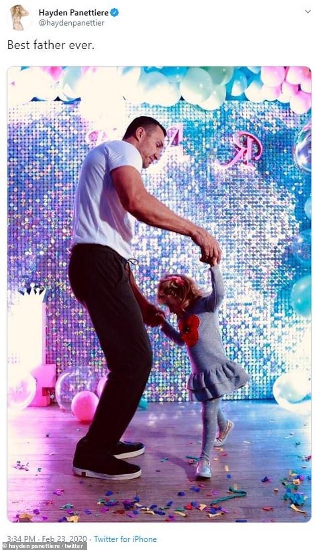 Хайден Панеттьери показала Владимира Кличко с дочкой — фото