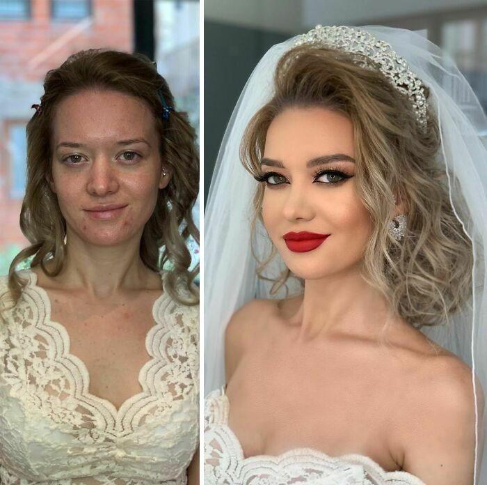Как профессиональный визажист кардинально меняет невест