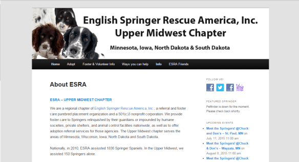 Springer Rescue Midwest | Regional Chapter of English Springer Rescue America (ESRA)