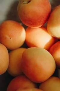 close up of apricots