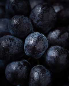 close up of grapes