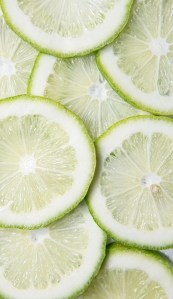 close up of a bunch of lime slices
