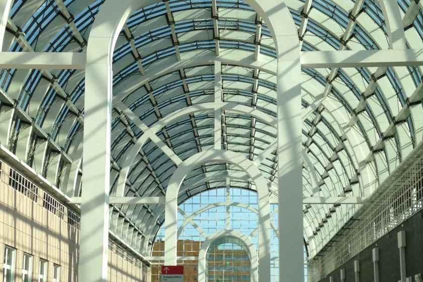 Die Messe Frankfurt ... auch architektonisch immer wieder ein Genuss.
