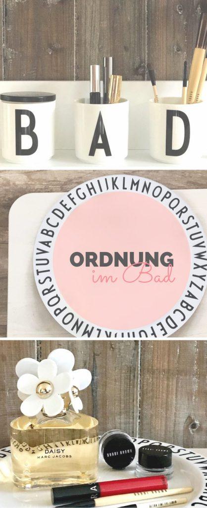 So schön kann Ordnung sein: Design Letters sorgen für Ordnung im Badezimmer