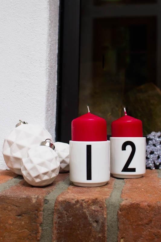 Minimalistisch: Adventskranz mit Design Letters