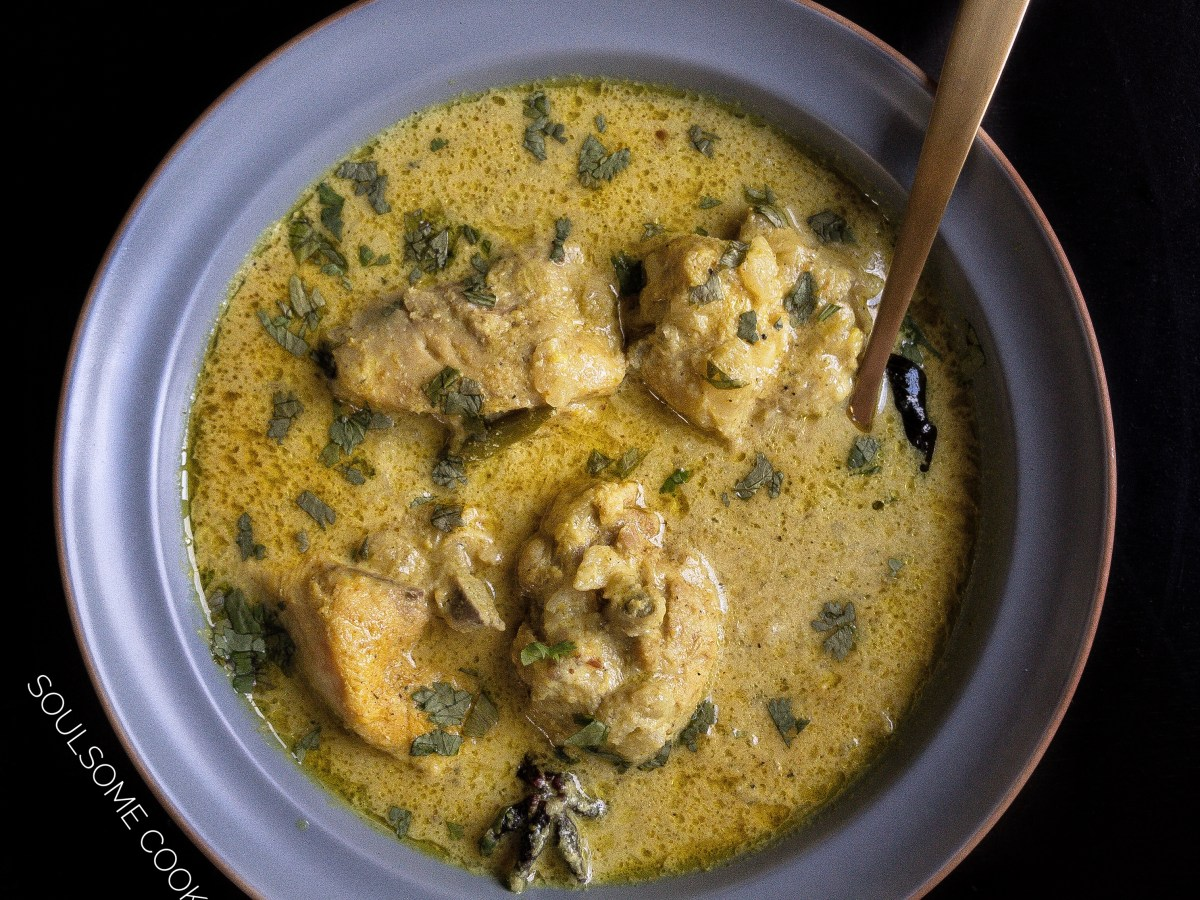 White chicken curry