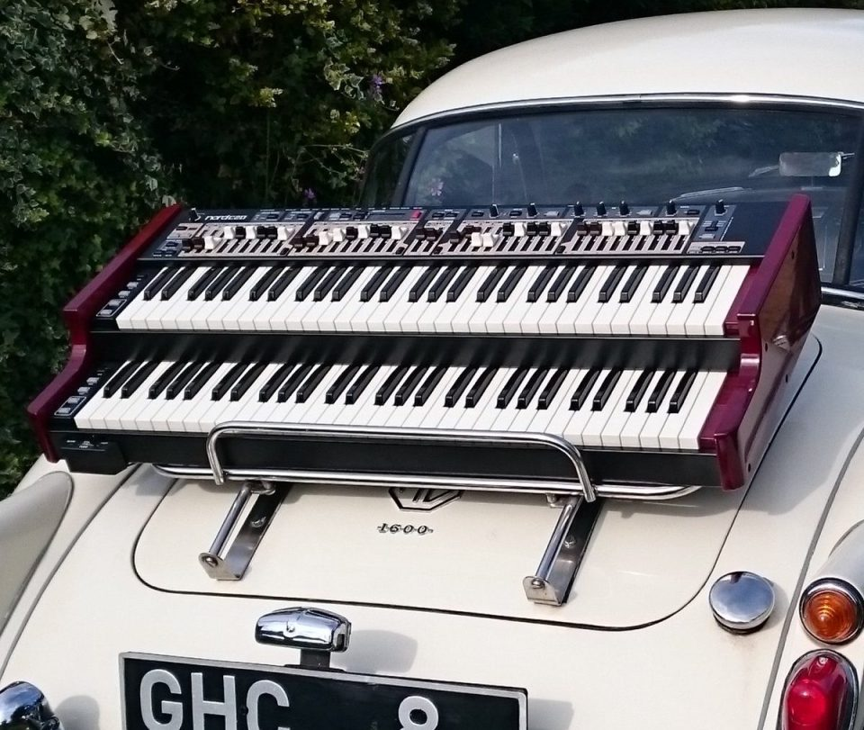 1960 Mk1 MGA Coupé and 2016 Nord C2D Organ