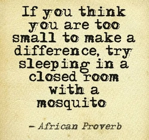 too small to make a difference