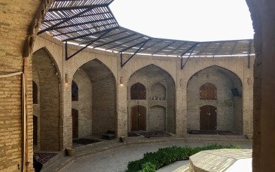 Staying in a Silk Road Caravanserai in Iran.