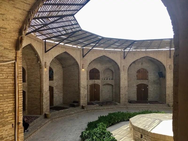 Staying in a Silk Road Caravanserai in Iran.