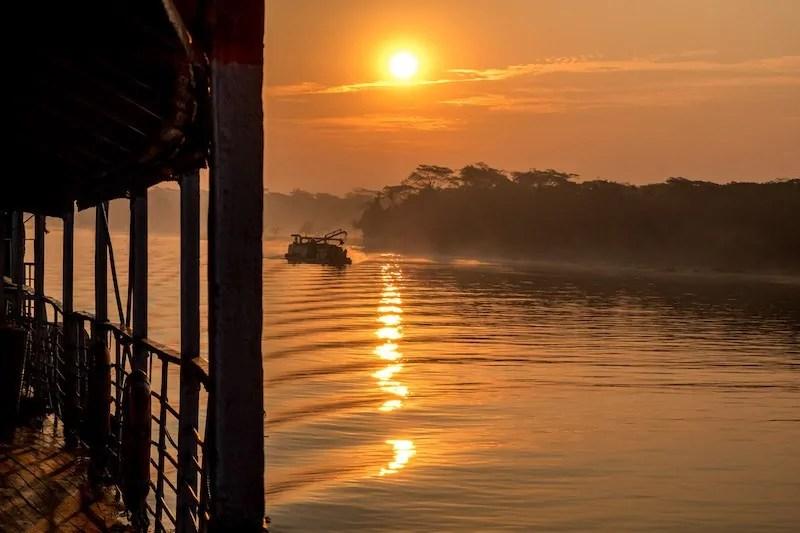 Sundarbans trip Bangladesh taking the Rocket paddle steamer