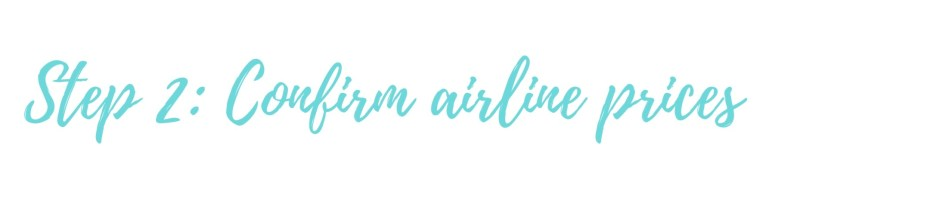 Confirm airline prices