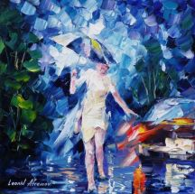 Lady in White by Leonid Afremov