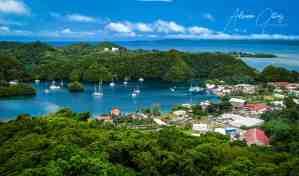 Rock islands surround the City of Koror, Palau