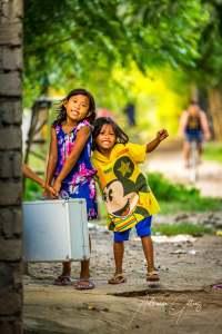 Cute smiling Indonesian children