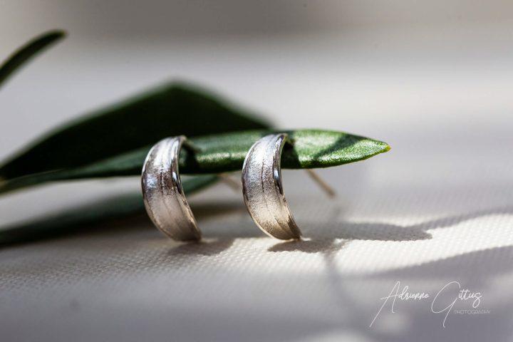 picual olive leaf silver stud earrings, jewellery