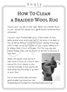 instructional printable cleaning a braided wool rug