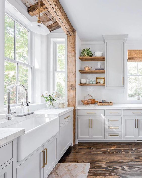 10 exemples de cuisines blanches
