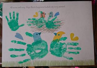 家族で手形アートとりました!