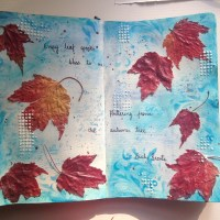 Art Journal #21 – Autumn Leaves
