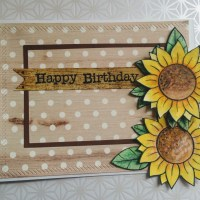 Card #47 - Sunflower birthday