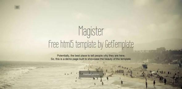 resiponsive template Magister