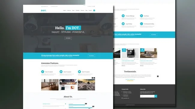 DOT - Landing Page Template