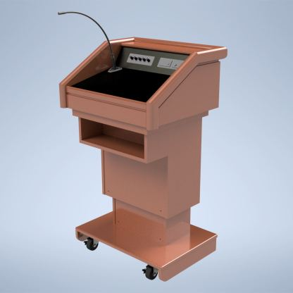The Keynote Executive Traditional Lectern with Sound System