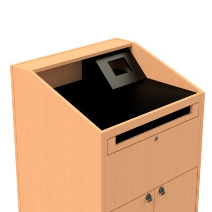 combination work surface wedge for the teacher