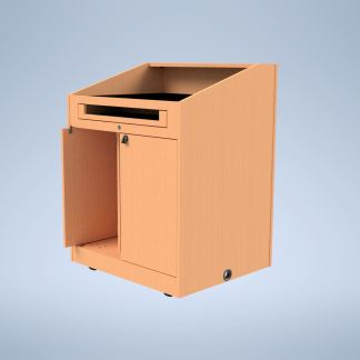 The Presenter with a PPD Doors purchase a podium online