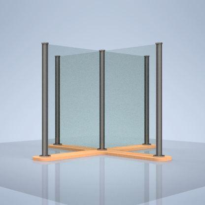 "plexiglass desk shield ""X"""