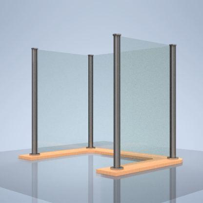 """Plexiglass Desk Shield """"U"""""""