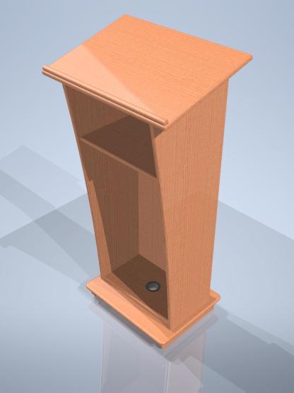 hardwood podium