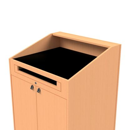 Removable flat work surface