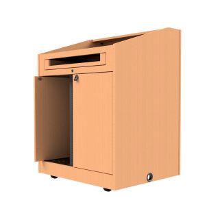 pocket-pivot doors on podium