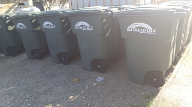 Emerald Isle waste bins