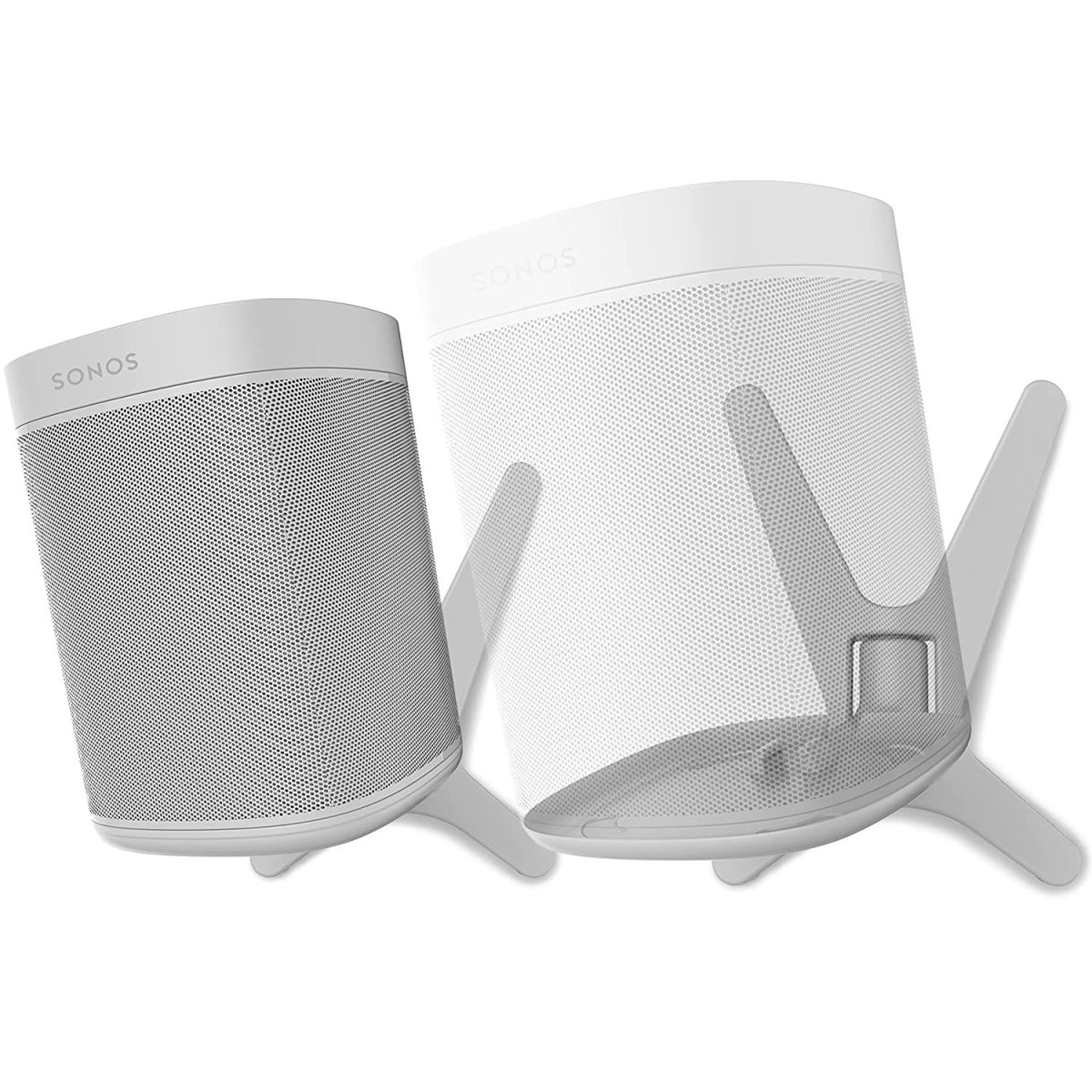 2 x ONE, ONE SL, Play:1 - Premium X Wall Mount Bracket - White - Compatible with SONOS ONE, ONESL & Play:1