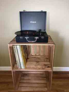 Darla'Studio 66 Cherry Stained Record Player Stand