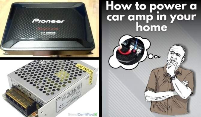 how to connect  power a car amp in your home  diagrams