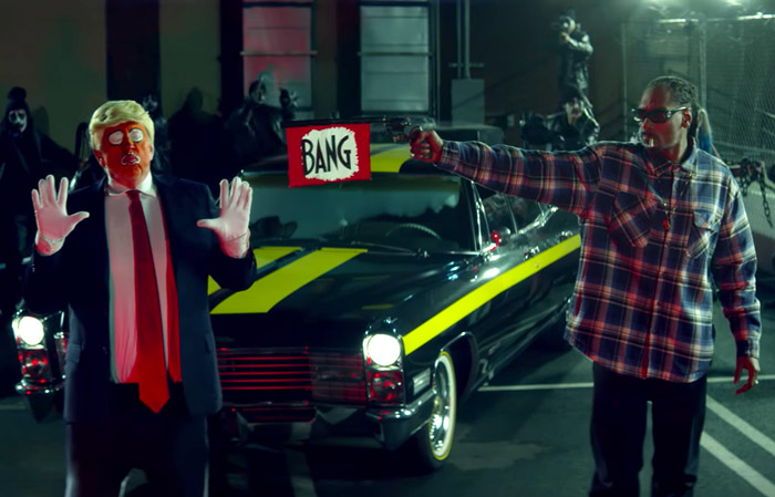 Snoop Dogg shoots 'Trump'!