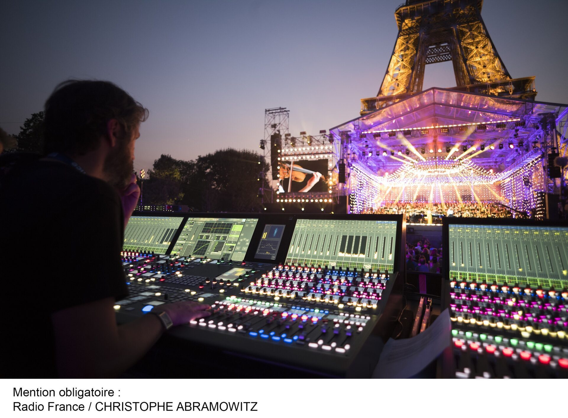 Lawo performs at France's 14 July celebrations: live FOH and
