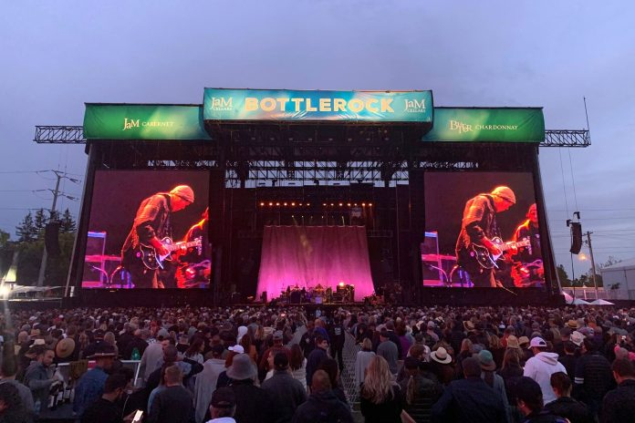 Neil Young + Promise of the Real headline BottleRock's Saturday night show on the L-Acoustics K1/K2-equipped main JaM Cellars Stage