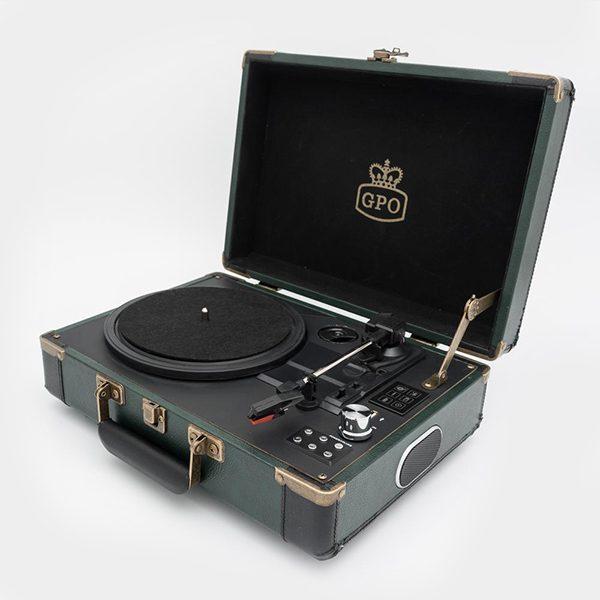 GPO Ambassador Vinyl Player Green