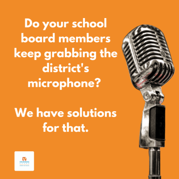 Do your school board members keep grabbing the district's microphone? We have solutions for that.