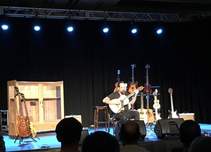 Eric Skye on stage at Fretboard Summit