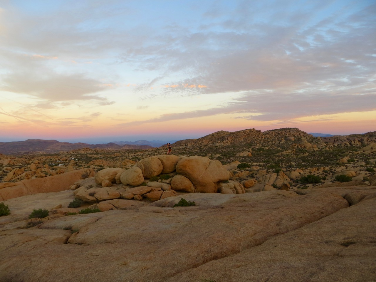 Jumbo Rocks sunset, Joshua Tree