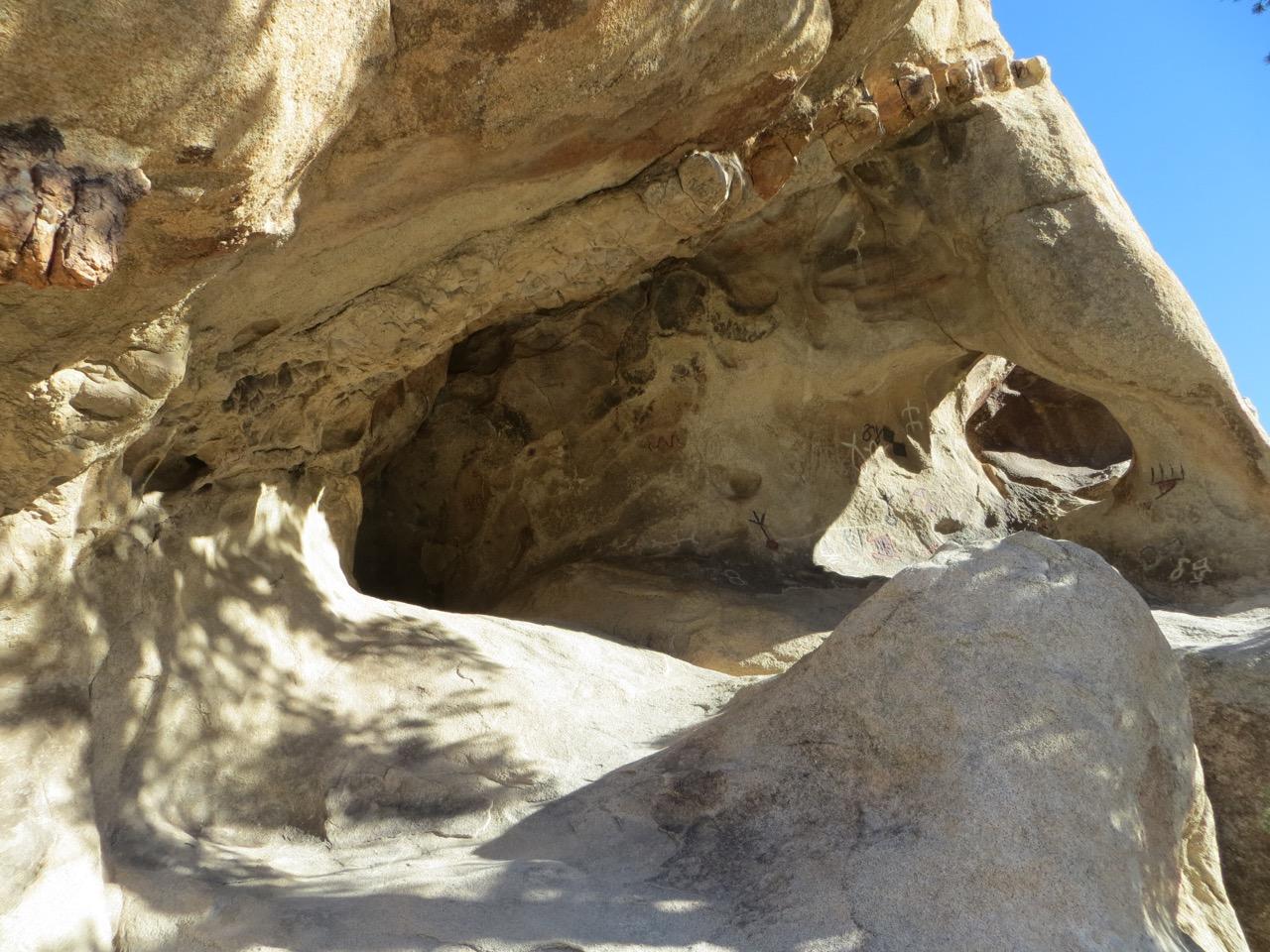 Petroglyphs, Vandalized Petroglyphs, Joshua Tree