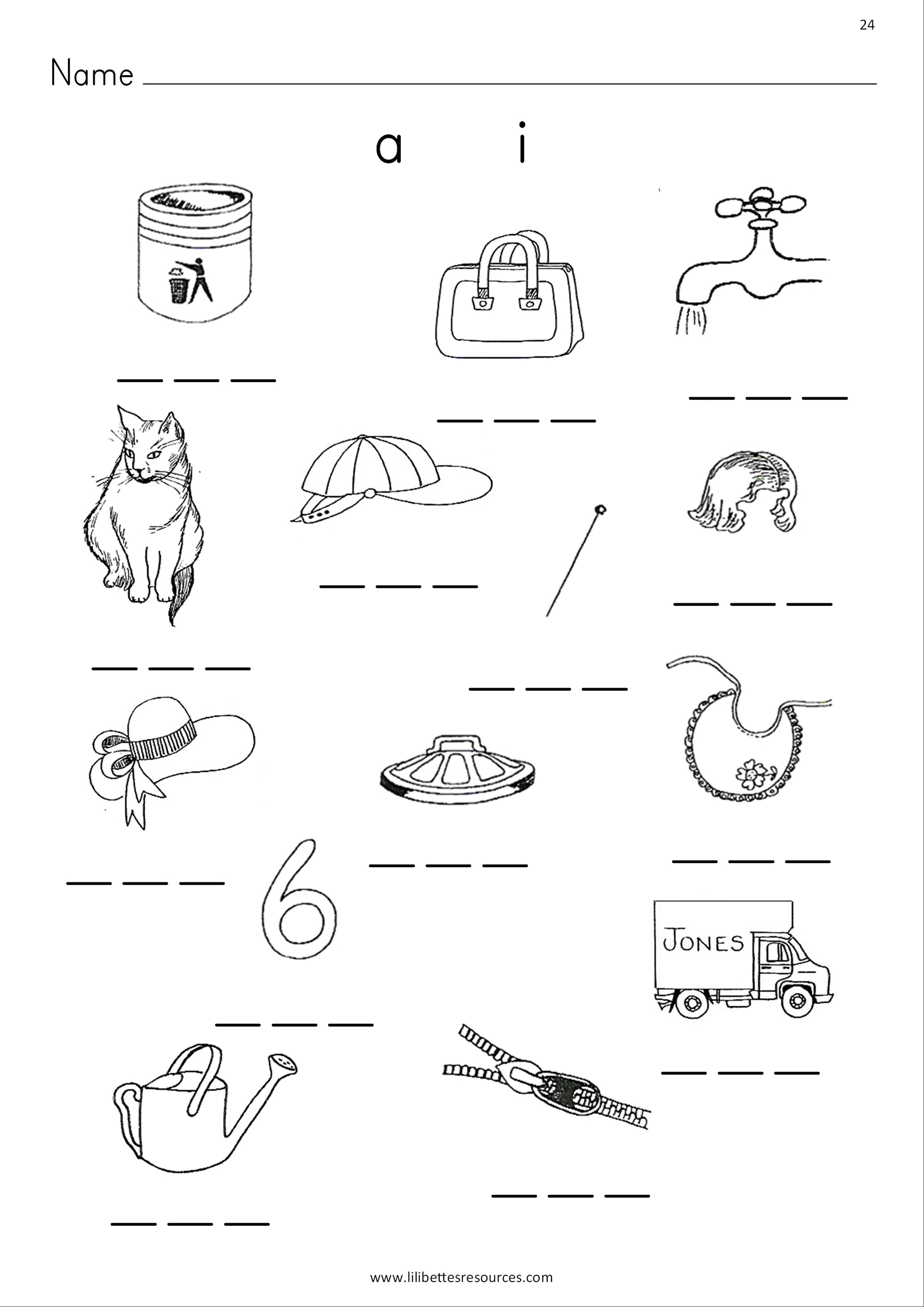Cvc Words Phonics Worksheets Fro Free Dowbload