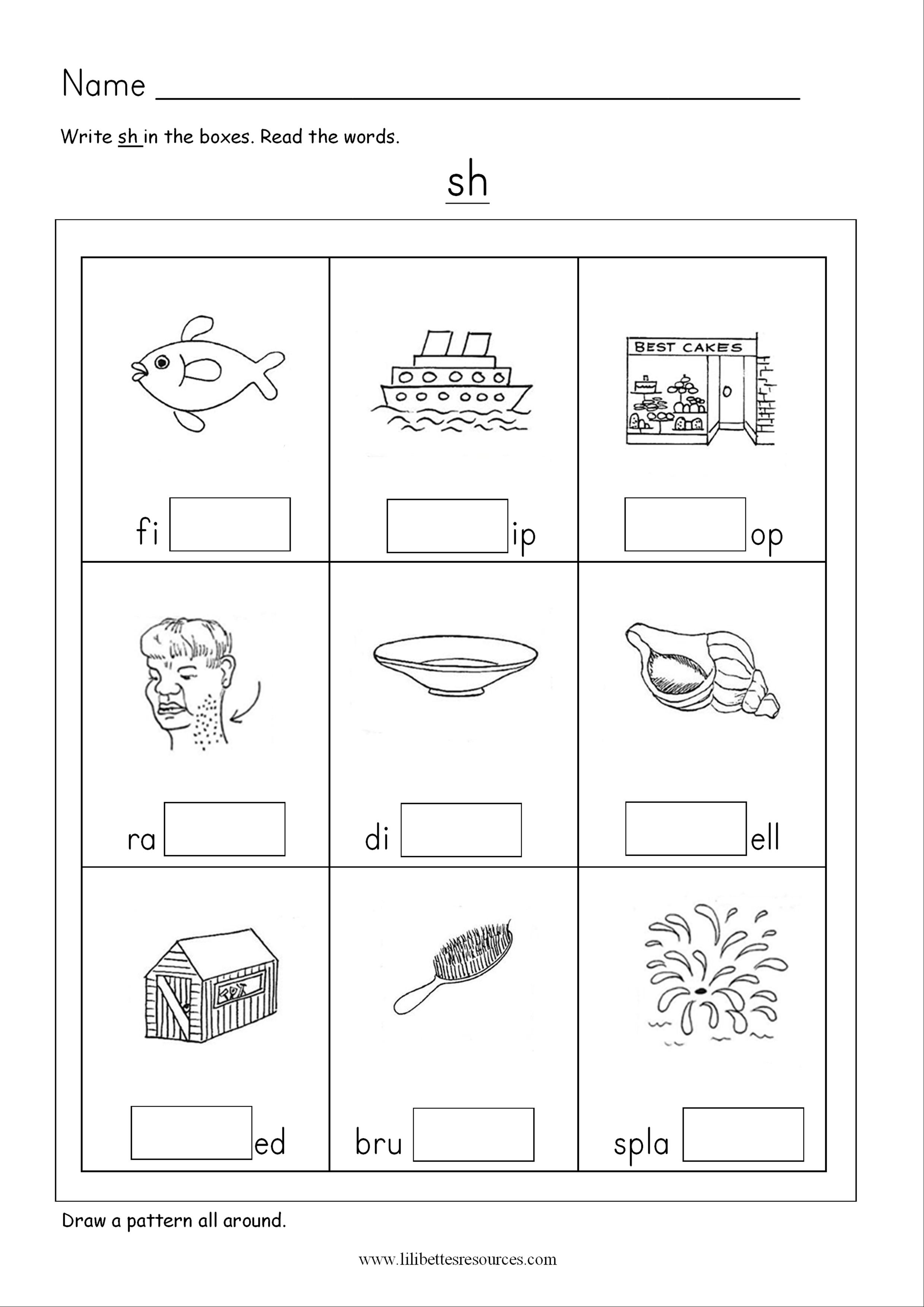 Sh Phonics Worksheets